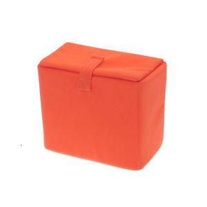 (まとめ)エツミ インナーボックス フラップB オレンジ E-6706【×3セット】
