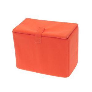 (まとめ)エツミ インナーボックス フラップD オレンジ E-6710【×2セット】