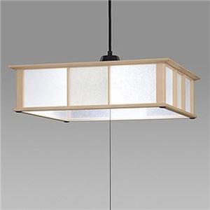 日立LED和風木枠ペンダントライト〜8畳LEP-CA802EJ