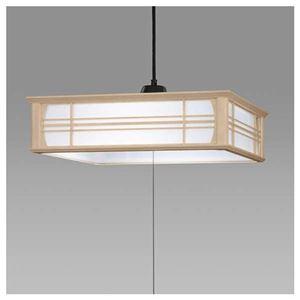 日立LED和風木枠ペンダントライト〜12畳LEP-CA1200EJ