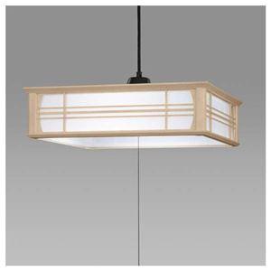 日立LED和風木枠ペンダントライト〜8畳LEP-CA800EJ