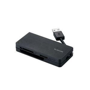 (まとめ)エレコム USB3.0対応メモリカードリーダ(ケーブル収納タイプ) MR3-K012BK【×3セット】 h01