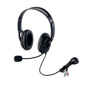 (まとめ)エレコム ヘッドセット(両耳大型オーバーヘッドタイプ) HS-HP28BK【×3セット】