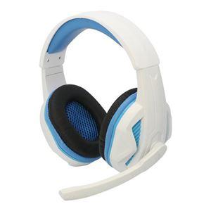 (まとめ)コロンバスサークル PS4/PC用マルチゲーミングヘッドセット ホワイト CC-P4MGH-WT【×2セット】