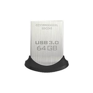 (まとめ)SanDisk USB3.0フラッシュメモリ 64GB ウルトラフィット USBメモリ 130MB/s SDCZ43-064G-GAM46【×2セット】