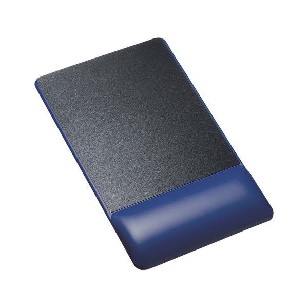 (まとめ)サンワサプライ リストレスト付きマウスパッド(レザー調素材、高さ標準、ブルー) MPD-GELPNBL【×2セット】f00