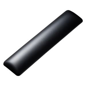 (まとめ)サンワサプライ キーボード用リストレスト(レザー調素材、ブラック) TOK-GELPNLBK【×2セット】 h01