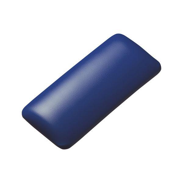 (まとめ)サンワサプライ マウス用リストレスト(レザー調素材、ブルー) TOK-GELPNSBL【×2セット】f00