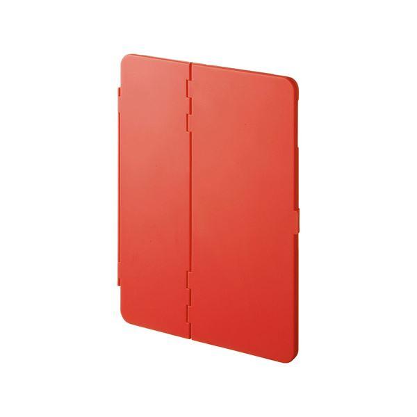 (まとめ)サンワサプライ iPadPro9.7インチiPadAir2ハードケース(スタンドタイプ・赤) PDA-IPAD94R【×2セット】f00
