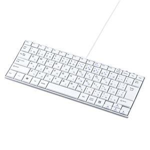 (まとめ)サンワサプライ USBスリムキーボード SKB-SL18WN【×2セット】 h01