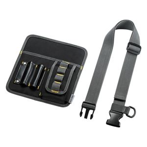 (まとめ)サンワサプライ ウエストベルトケース(8インチタブレット対応) PDA-TABWB2【×2セット】
