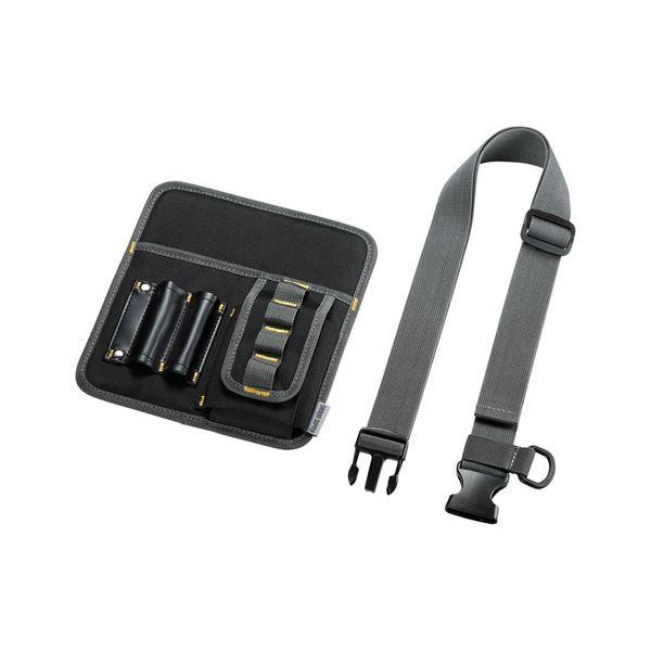 (まとめ)サンワサプライ ウエストベルトケース(8インチタブレット対応) PDA-TABWB2【×2セット】f00