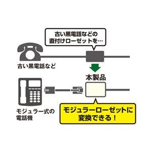(まとめ)ミヨシ 6極2芯モジュラーローゼットアダプタ TA-R20IV【×10セット】 h02