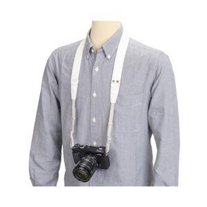 (まとめ)エツミ スフィーダカメラストラップ ホワイト E-6754【×2セット】