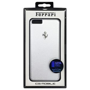 Ferrari 公式ライセンス品 PERFORATED - Hard Case - Aluminum Plate - Silver FEPEHCP6LSI h01