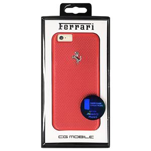 Ferrari 公式ライセンス品 PERFORATED - Hard Case - Aluminum Plate - Red FEPEHCP6RE h01