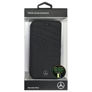 Mercedes 公式ライセンス品 ORGANIC III 本革手帳型ケース Black MEFLBKP6OLBK