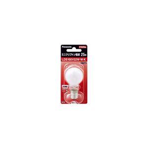 (まとめ)PANASONICミニクリプトン電球25W形ホワイトLDS100V22WWK【×10セット】