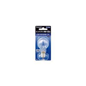 (まとめ) PANASONIC ミニクリプトン電球60W形クリア LDS110V54WCK 【×10セット】