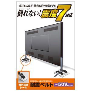 エレコムTV用耐震ベルト/〜50V用/強力粘着シールタイプ/4本入TS-004N2