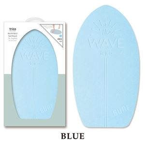 ノルコーポレーション trico珪藻土バスマットサーフボード ブルー CTZ1902