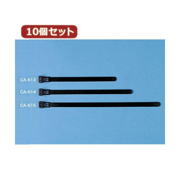 10個セットサンワサプライ ケーブルタイ(ワイド) CA-614X10