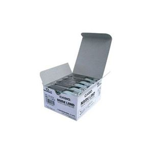 CASIO ネームランド(NAME LAND) スタンダードテープ (透明テープ/黒文字/12mm幅・5本入) XR-12X-5P-E