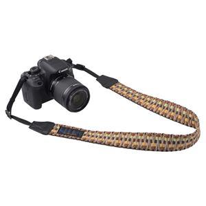 エツミ Gevaert カメラストラップ ビビッドシャギー イエロー VGV-002