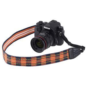 ARNUVO カメラストラップ オレンジチェック VAR-0169