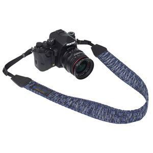 エツミ Gevaert カメラストラップ アースシャギー ネイビー VGV-008