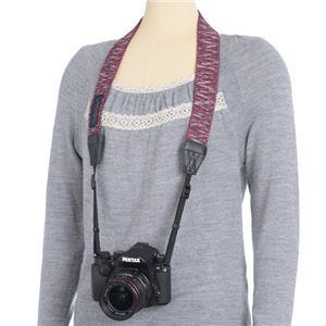 エツミ Gevaert カメラストラップ アースシャギー レッド VGV-009