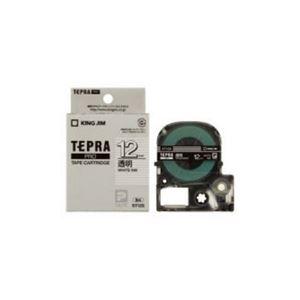 (まとめ) キングジム テプラ 透明ラベルテープ (透明テープ/白文字/12mm幅) ST12S 【×5セット】