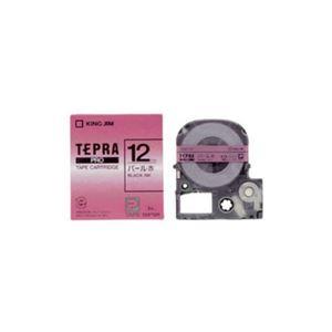 (まとめ) キングジム テプラ カラーラベルテープ(パール赤テープ/黒文字/12mm幅) SMP12R 【×5セット】