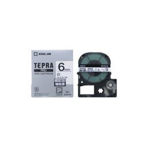 (まとめ) キングジム テプラ 強粘着ラベルテープ (白テープ/黒文字/6mm幅) SS6KW 【×5セット】