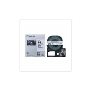 (まとめ) キングジム テプラ 透明ラベルテープ (透明テープ/黒文字/9mm幅) ST9K 【×5セット】