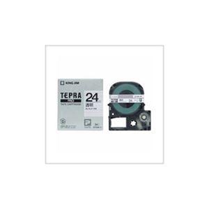(まとめ) キングジム テプラ 透明ラベルテープ (透明テープ/黒文字/24mm幅) ST24K 【×5セット】