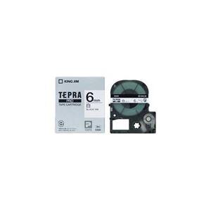(まとめ) キングジム テプラ 白ラベルテープ (白テープ/黒文字/6mm幅) SS6K 【×5セット】