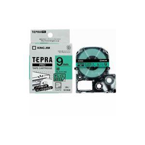 (まとめ) キングジム テプラ きれいにはがせるラベルテープ (緑テープ/黒文字/9mm幅) SC9GE 【×5セット】