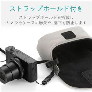 (まとめ) エレコム デジカメケース/カジュアルタイプ/LLサイズ/グレー DGB-066GY 【×5セット】