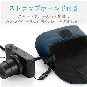 (まとめ) エレコム デジカメケース/カジュアルタイプ/LLサイズ/ネイビー DGB-066NV 【×5セット】