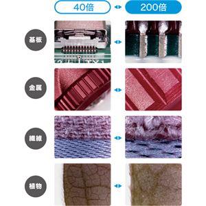 ミヨシ 200倍対応USB顕微鏡 スタンド付き UK-06