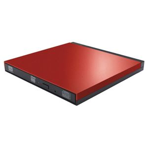 ロジテック DVDディスクドライブ/USB3.0/PUEシリーズ/M-DISC対応/オールインワンソフト付/レッド LDR-PUE8U3VRD