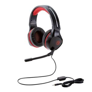 エレコム ゲーミングヘッドセット/両耳オーバーヘッド/4極ミニプラグ/50mmドライバ/極厚イヤーパッド/コントローラ付属/ブラック HS-G01BK