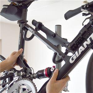 サンコー 自転車2台縦置きポールスタンド SFBKST02