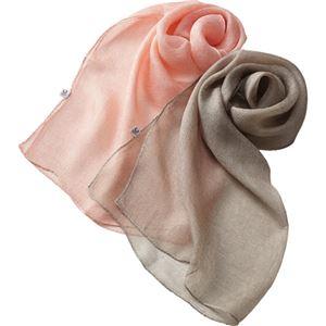 YUMEZAIKU 桜染 絡み織りスカーフ小 C8035027