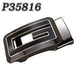 (まとめ) TENKAPAS 無段階調整 快適便利 オートロック 本革 ベルト メンズ P35816 【×2セット】