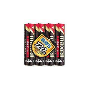 (まとめ) maxell アルカリ電池 LR03T4P 【×10セット】