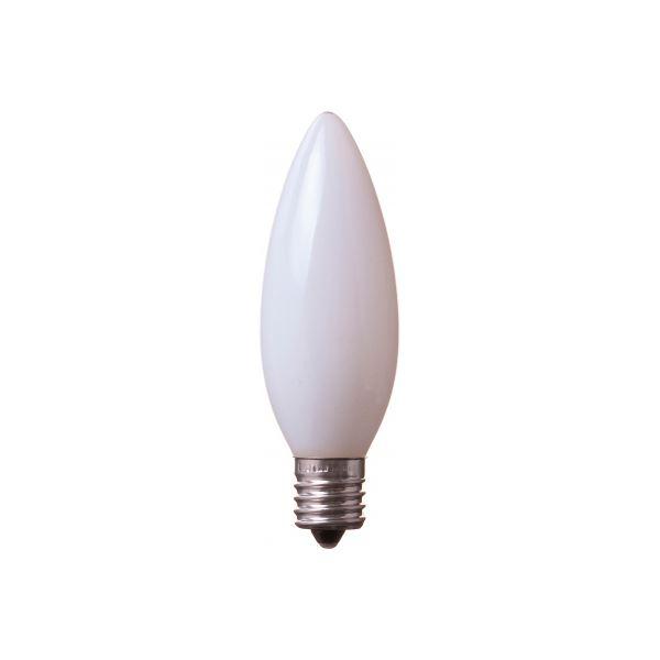 (まとめ) YAZAWA C32形LEDランプ昼白色E17ホワイト LDC1NG32E17W3 【×5セット】