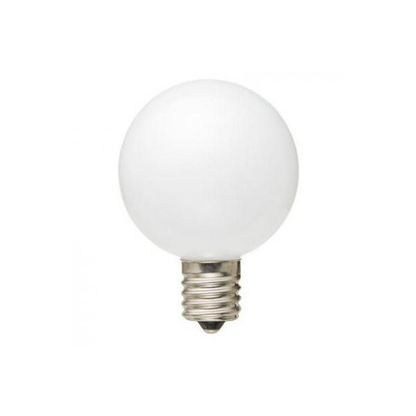 (まとめ) YAZAWA G50形LEDランプ電球色E17ホワイト LDG1LG50E17W3 【×5セット】