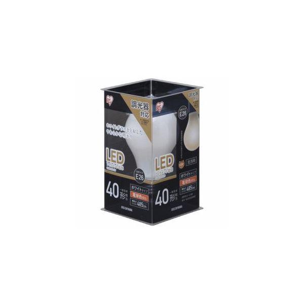(まとめ) アイリスオーヤマ LED電球 E26口金 電球色 485lm(40W形相当) LDA4L-G/D-FW 【×5セット】